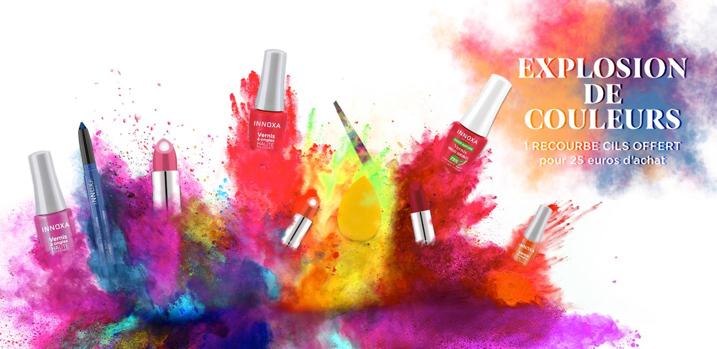 Explosions de couleurs.
